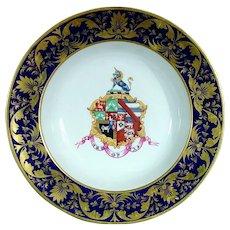 Derby Armorial Soup Bowl C.1825, Bloor Era