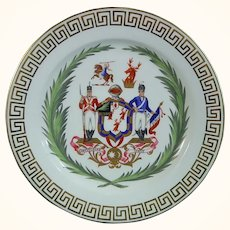 Minton Doyle Family Armorial Plate with Egypt & Libya associations C.1865.