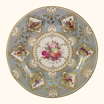 Chamberlain Worcester Plate, Royal Service for Princess Charlotte of Wurttemburg c.1816.