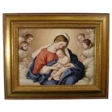 KPM Berlin Plaque of Salvi's Madonna and Child (the Virgin Mary and the Infant Jesus) 1860.