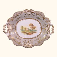 Ridgway Tray with Landscape Painting, Pattern 4173 C.1835.