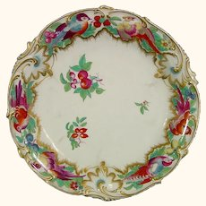 18thc. Chelsea Plate from the Blenheim Palace Service with Exotic Birds & Gold Anchor C1760.