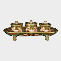 Early Spode Inkstand C1820 in Pattern 967 Antique British Regency Porcelain