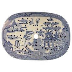 Spode Temple Pattern Platter Insert or Drainer C.1825.