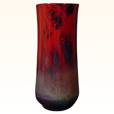 Exceptional Royal Doulton Vase by Noke with Song Glaze