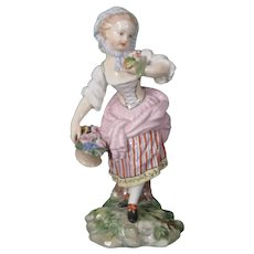 Antique Copenhagen 18thc Figure of Spring from the Four Seasons