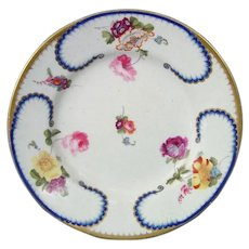 Bloor Derby Feuille-de-Choux Plate in Sevres Style