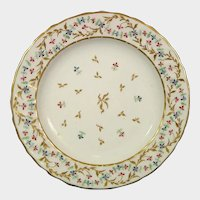 Early 19th Century Derby Rose Barbeaux Plate Pattern 287 British Porcelain