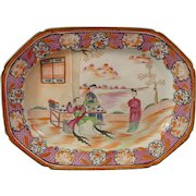 Mason's Octagonal Platter or Meat Dish in Chinese Export Style c.1805.