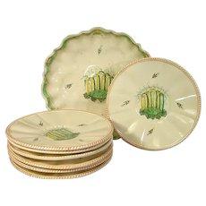Cozzi Majolica Compote and Plates C.1795
