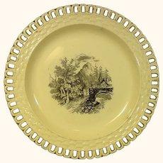 Drabware Silver Luster Pierced Plate C.1815