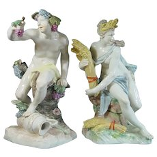 Nymphenburg Figures of Ceres and Bacchus 20th Century