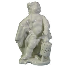 Nymphenburg Figure by Bustelli of a Putto as Winter.