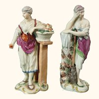 Ludwigsburg Pair of Two Antique Porcelain Figures c.1765.