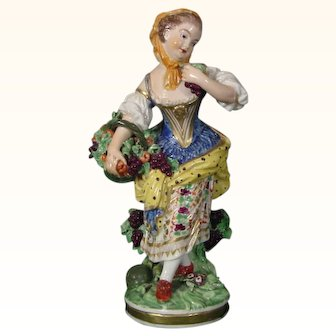Derby Figure of a Woman as Autumn from the Set of French Seasons c.1790.