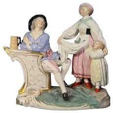 Hochst Damm Faience Figure Group C.1835.