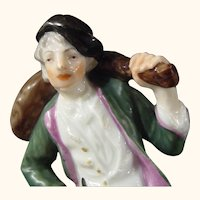 Ludwigsburg Figure of a Meat-Seller or Butcher, Modeled by P. F. Lejeune c.1770.