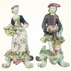 Pair of Bow Figures of Winter and Spring C1765.