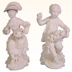 Derby 18th Century Antique Porcelain Figures C.1780
