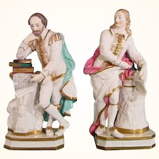 Derby Figures: Milton and Shakespeare C1810
