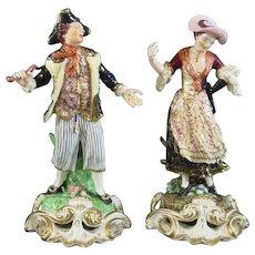 Derby Antique Porcelain Figure Pair: The Sailor and His Lass c.1820.