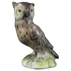 Rare and Early Meissen Miniature Porcelain Figure of an Owl c.1745.