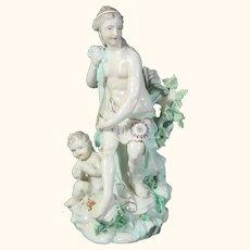 Antique Figure of Venus and Cupid C.1900