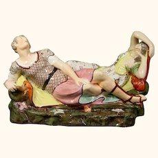 Large Staffordshire Antony & Cleopatra Figures c.1800.
