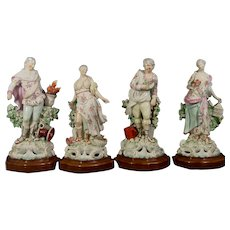 Derby 18th C. Porcelain Figures, the Four Elements: Earth, Air, Fire & Water. C.1765