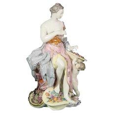 Nymphenburg Figure of Flora as Spring Modelled by Dominikus Auliczek