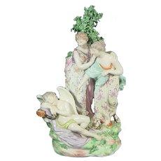 Derby figure of Two Virgins Awakening Cupid C.1785.