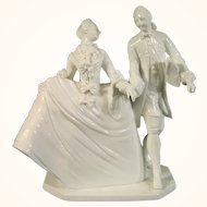 20thc Nymphenburg Figure of a Couple in Ballroom Dress.