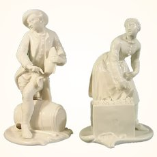 20thc Nymphenburg Figure of a Pair of Street Sellers.