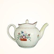Herculaneum Marked Pearlware Teapot C1800
