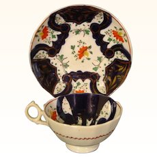 Antique Gaudy Welsh Type Cup and Saucer c.1835.