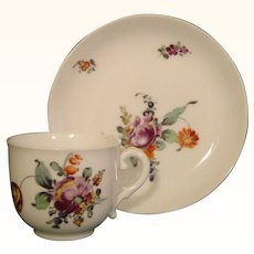 Nymphenburg Demitasse Cup and Saucer in 18thc. Style.