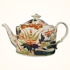 Spode Oval Canister Teapot C.1795.