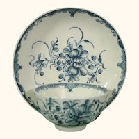 Worcester Mansfield Pattern Teabowl and Saucer, C1770