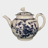 Worcester Mansfield Pattern Teapot C1770