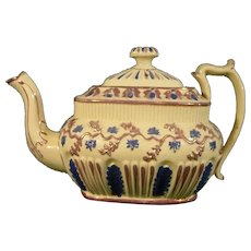 Drabware Luster Teapot Molded with Grape Vines C.1820.
