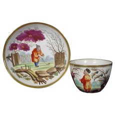 Minton Porcelain Cup and Saucer with Chinese Figures in Pattern 539 c.1825.