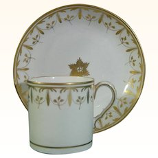 Spode Coffee Can and Saucer Pattern 44 C.1805.