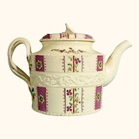 18thc. William Greatbatch Creamware Teapot C.1775