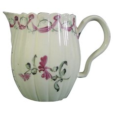 William Greatbatch Creamware Sparrow Beak Milk Jug or Creamer C.1775.
