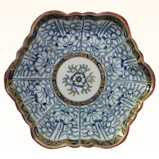Worcester Teapot Stand in the Lily Pattern C.1785