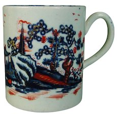 Antique 18thc Porcelain Mug or Coffee Cup from the Pennington Factory in Liverpool c.1780.