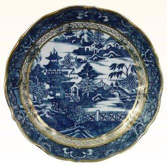 Antique Caughley Temple Pattern Porcelain Dish for a Tea Set c.1785.