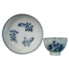 Pearlware Miniature Toy Teabowl and Saucer c1810.