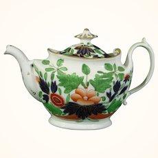 Coalport Teapot in Bright Colors by John Rose c.1810