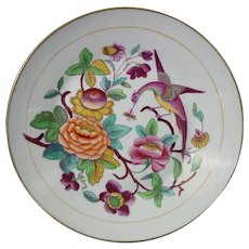 New Hall Dessert Dish or Plate with Colorful Pattern, c.1805.